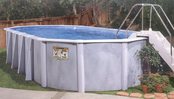 Above ground swimming pools oval pools seville pools - Swimming pool seville ...